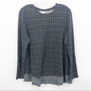 J.Jill | Multi Patterned Pullover Long Sleeve Top